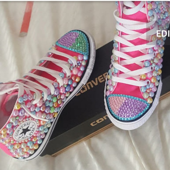 Shop - pink bling converse shoes - OFF